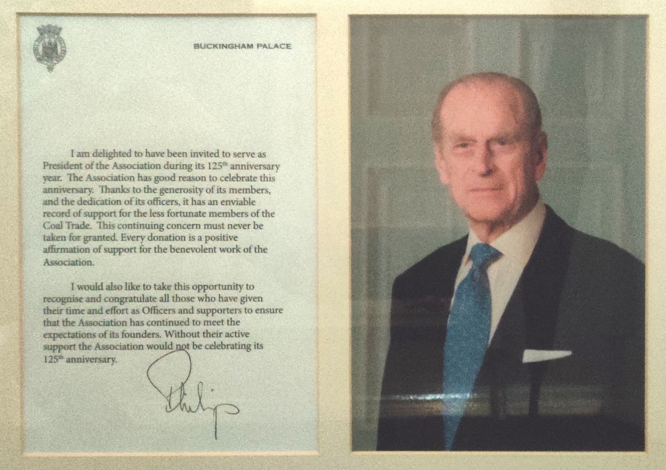 Letter from His Royal Highness